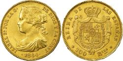 World Coins - Coin, Spain, Isabel II, 100 Reales, 1864, Madrid, , Gold, KM:617.1