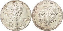 Us Coins - United States, Dollar, 1991, Philadelphia, MS(63), Silver, KM:273