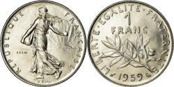 World Coins - Coin, France, Semeuse, Franc, 1959, Paris, ESSAI, , Nickel, KM:E98