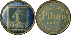World Coins - Coin, France, Chocolats Pihan, Paris, 25 Centimes, Timbre-Monnaie,