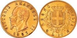 World Coins - Coin, Italy, Vittorio Emanuele II, 20 Lire, 1863, Torino, , Gold