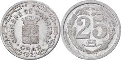 World Coins - Coin, Algeria, Chambre de Commerce, Oran, 25 Centimes, 1922,