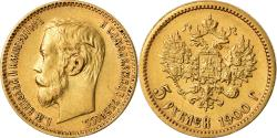 Ancient Coins - Coin, Russia, Nicholas II, 5 Roubles, 1900, St. Petersburg, , Gold