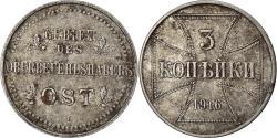 World Coins - Coin, GERMANY - EMPIRE, Wilhelm II, 3 Kopeks, 1916, Hambourg, , Iron