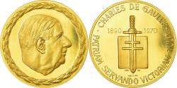 World Coins - France, Medal, Charles De Gaulle, History, 1970, Monnaie de Paris, , Gold
