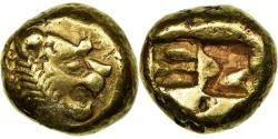 Ancient Coins - Coin, Lydia, Alyattes, 1/3 Stater, Sardes, , Electrum