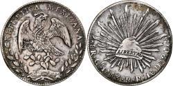 World Coins - Coin, Mexico, 8 Reales, 1883, Guanajuato, Countermark, , Silver