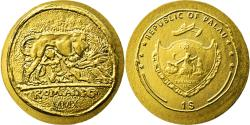 World Coins - Coin, Palau, Dollar, 2010, CIT, Remus and Romulus, , Gold, KM:327
