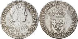 World Coins - Coin, France, Louis XIV, 1/2 Écu à la mèche longue, 1/2 Ecu, 1651, Rennes