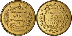 World Coins - Coin, Tunisia, 50 Centimes, 1928, Paris, ESSAI, , Brass, Lecompte:179