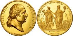 World Coins - France, Medal, Louis XVIII, Encouragements et Récompenses, 1823, Gayrard, Gold