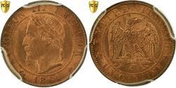 World Coins - Coin, France, Napoleon III, Napoléon III, Centime, 1861, Paris, PCGS, MS65RD