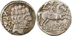 Ancient Coins - Coin, Spain, Barskunes, Denarius, AD 35, , Silver