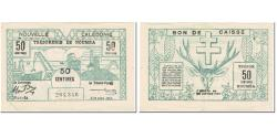 World Coins - Banknote, New Caledonia, 50 Centimes, 1943, 1943-03-29, KM:54, VF(30-35)