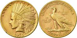 Us Coins - Coin, United States, Indian Head, $10, Eagle, 1913, U.S. Mint, Philadelphia