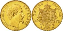 Ancient Coins - Coin, France, Napoleon III, 50 Francs, 1857, Paris, EF(40-45), KM 785.1