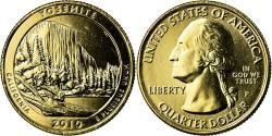 Us Coins - Coin, United States, Yosemite, Quarter, 2010, U.S. Mint, , Gold plated