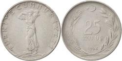World Coins - Turkey, 25 Kurus, 1962, , Stainless Steel, KM:892.2