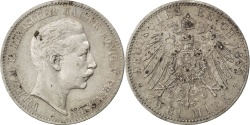 World Coins - German States, 2 Mark, 1899, Berlin, KM #522, , Silver, 28, 11.04