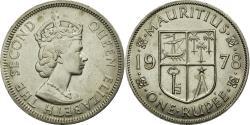 World Coins - Coin, Mauritius, Elizabeth II, Rupee, 1978, AU(55-58), Copper-nickel, KM:35.1
