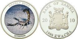 World Coins - Coin, Zambia, 1000 Kwacha, 2010, British Royal Mint, , Silver, KM:202