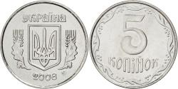 World Coins - UKRAINE, 5 Kopiyok, 2008, KM #7, , Stainless Steel, 23.91, 4.26