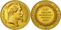 World Coins - Algeria, Medal, Epidémie de Choléra, F.Combes, Gouverneur, 1867, Barre