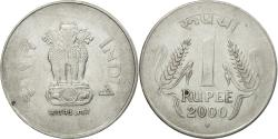 World Coins - Coin, INDIA-REPUBLIC, Rupee, 2000, , Stainless Steel, KM:92.2