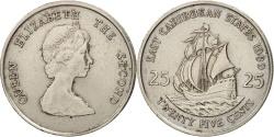 World Coins - East Caribbean States, Elizabeth II, 25 Cents, 1989, , KM:14