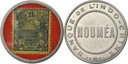 World Coins - Coin, Indochine, Banque de l'Indochine, Nouméa, 25 Centimes, Timbre-Monnaie
