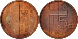 World Coins - Netherlands, Beatrix, 5 Cents, 1998, , Bronze, KM:202