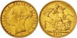 World Coins - Coin, Australia, Victoria, Sovereign, 1880, EF(40-45), Gold, KM:7