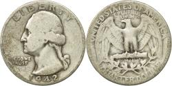 Us Coins - Coin, United States, Washington Quarter, Quarter, 1942, U.S. Mint, Philadelphia