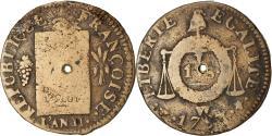 World Coins - Coin, France, Sol aux balances françoise, Sol, 1793, Lille, , Bronze