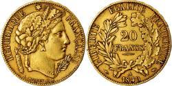 Coin, France, Cérès, 20 Francs, 1849, Paris, , Gold, KM:762