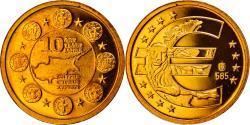 World Coins - Cyprus, Medal, 10 ans de l'Euro, 2009, , Gold