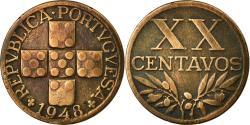 World Coins - Coin, Portugal, 20 Centavos, 1948, , Bronze, KM:584