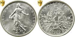 Ancient Coins - Coin, France, Semeuse, 5 Francs, 1962, Paris, PCGS, MS66, Silver, KM:926