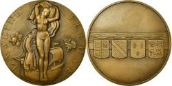 World Coins - France, Medal, Art Déco, La Seine Fleuve, Marcel Renard, , Bronze
