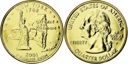 Us Coins - Coin, United States, New York, Quarter, 2001, U.S. Mint, , Gold plated