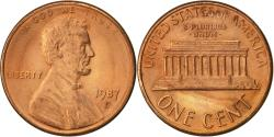 Us Coins - United States, Lincoln Cent, Cent, 1987, U.S. Mint, Denver, , Copper