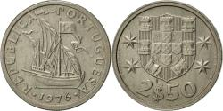 World Coins - Portugal, 2-1/2 Escudos, 1976, , Copper-nickel, KM:590