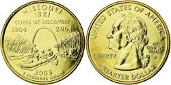 Us Coins - Coin, United States, Missouri, Quarter, 2003, U.S. Mint, , Gold plated