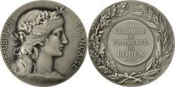 World Coins - France, Medal, Chambre de Commerce de Rouen, Dupuis.D, MS(63), Silvered bronze