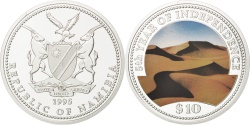 World Coins - NAMIBIA, 10 Dollars, 1995, KM #8, , Silver, 37, 25.12
