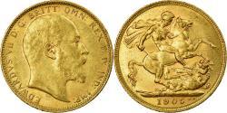 World Coins - Coin, Australia, Edward VII, Sovereign, 1905, Melbourne, , Gold, KM:15