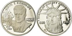 Us Coins - United States of America, Medal, Statue of Liberty Centennial, John Kennedy