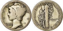 Us Coins - Coin, United States, Mercury Dime, Dime, 1917, U.S. Mint, Philadelphia