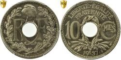 World Coins - Coin, France, Lindauer, 10 Centimes, 1937, Paris, PCGS, MS66, Copper-nickel