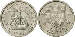World Coins - Portugal, 2-1/2 Escudos, 1984, , Copper-nickel, KM:590
